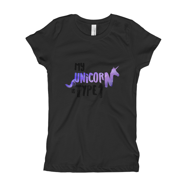 My Unicorn Is Type 1 - Girl's T-Shirt