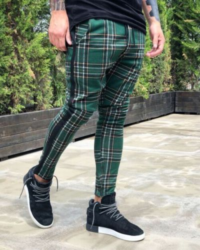 New European And American Plaid Pants