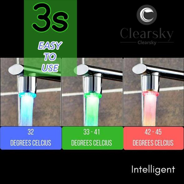 Environmentally Friendly RGB Intelligent LED Faucet
