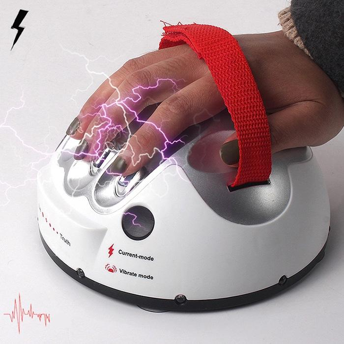 Creative Micro Electric Shock Lie Detector Truth Game Polygraph Toy