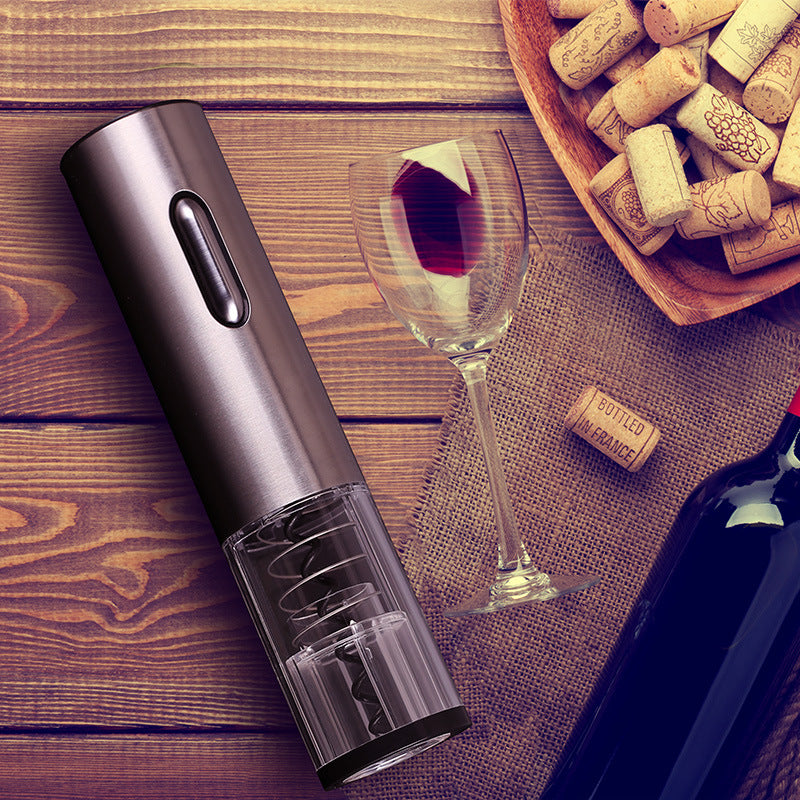 Cheer Classic Electric Wine Opener, 304 Stainless Steel, Rechargeable Lithium Battery, Portable Size Design, Removable Bottom, Easy to Clean