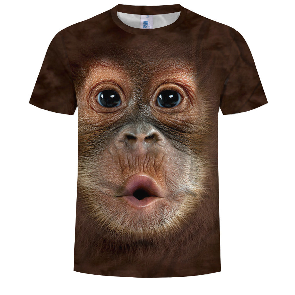 Summer men's monkey print t-shirts are funky