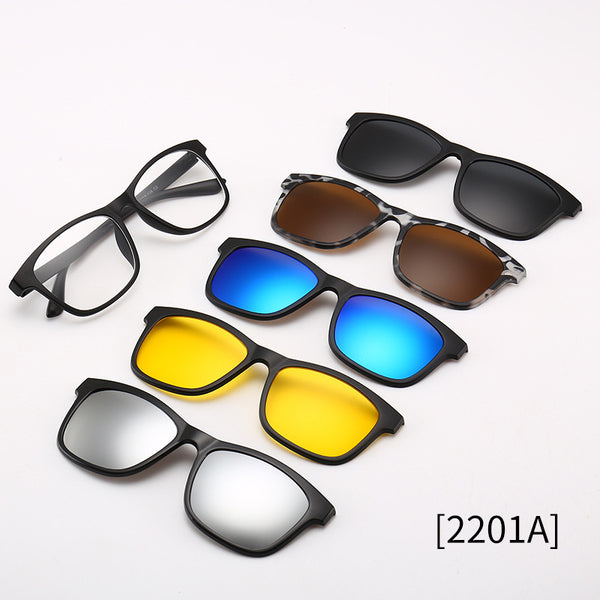 Free shipping—HOT SALE!! 5 In 1 Sunglasses Magnetic Lens Swappable Sunglasses
