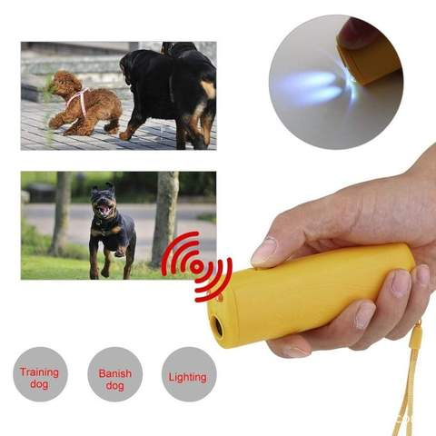 New Ultrasound Dog Training Repeller Control Trainer Device 3 in 1 Anti-barking Stop Bark Deterrents Dogs Pet Training Device