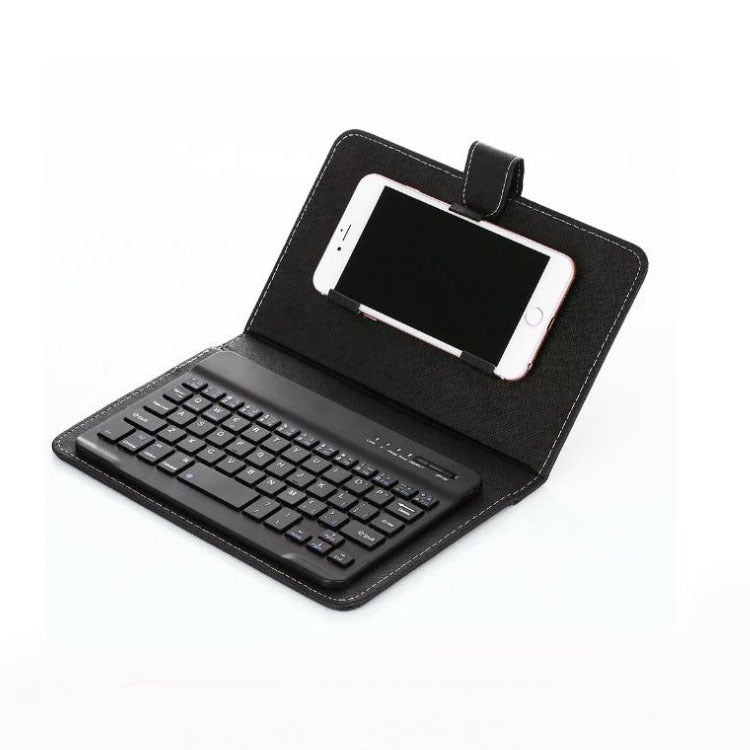 Leather Wireless Keyboard and Case with Bluetooth for Phone