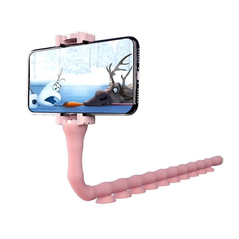 Cute Worm Lazy Mobile Phone Holder Octopus Bed Desktop Bracket Stand