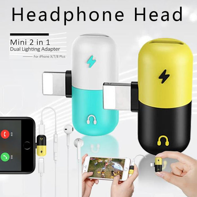 (BUY 1 GET 1 FREE ) 3 in 1 Lightning to Audio and Charging Adapter
