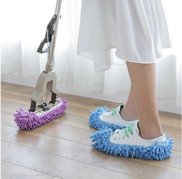 World's Best Microfiber Cleaning Mop Slippers