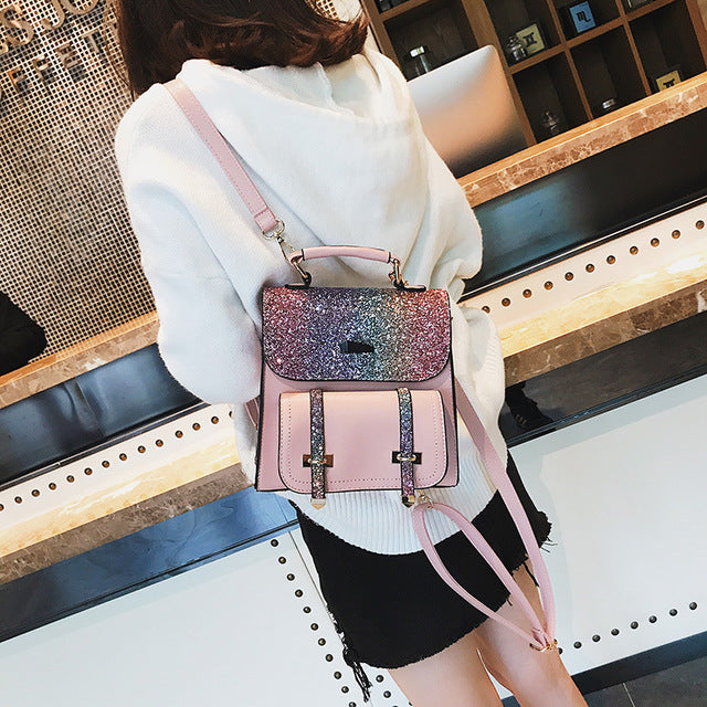 2019 new fashion sequin travel backpack