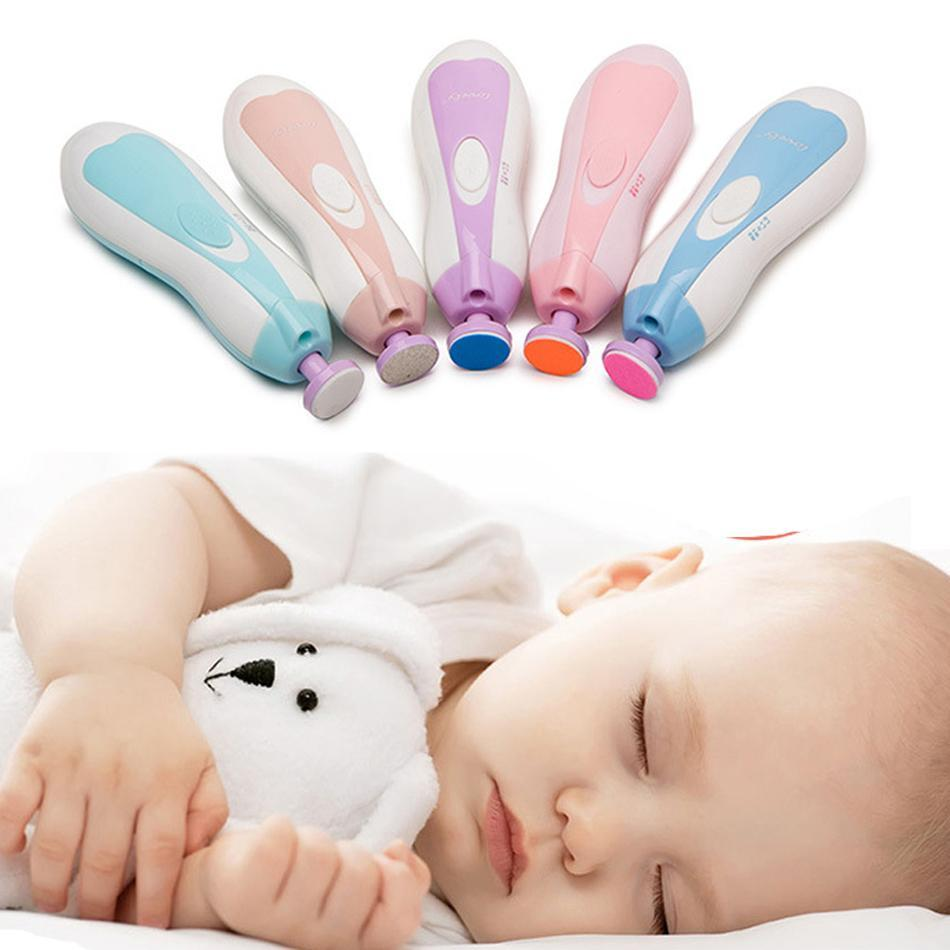 ELECTRIC BABY NAIL TRIMMER FILE WITH LIGHT