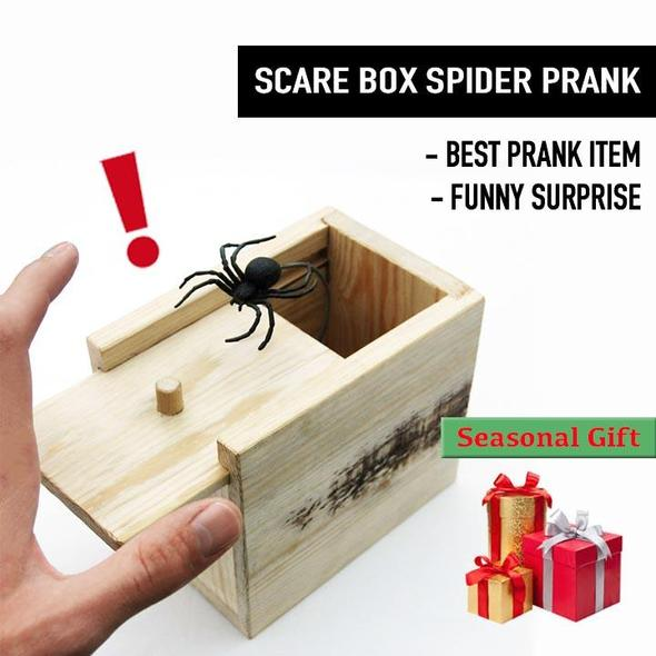 Scare Box Spider Prank