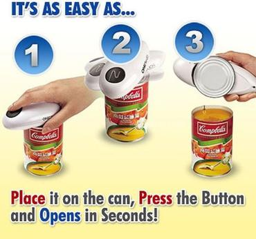 Automatic Can Opener + FREE Bottle Wrench