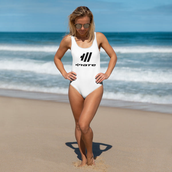Krate One-Piece Swimsuit white