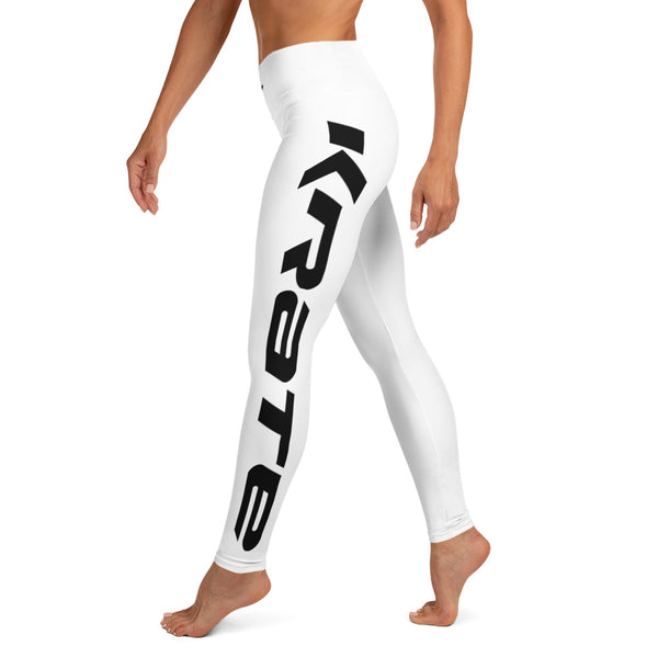 Krate Legging Raised waistband white