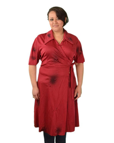 Red Zombie Wrap Dress
