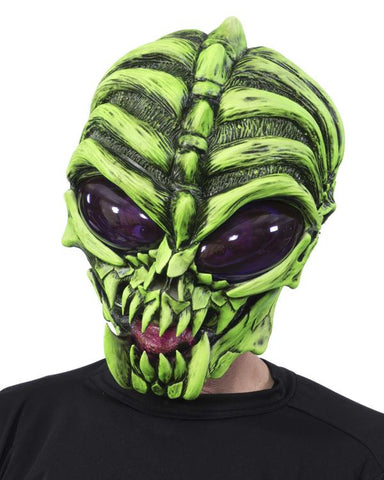 Down To Earth Alien Face Mask - UV Reactive