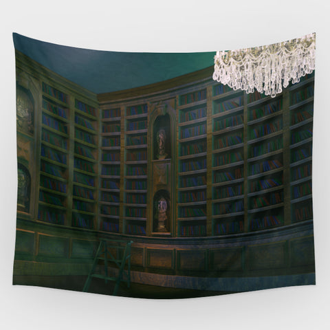 Haunted Mansion - Library Backdrop