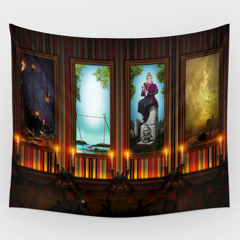 Haunted Mansion - Stretching Gallery Backdrop