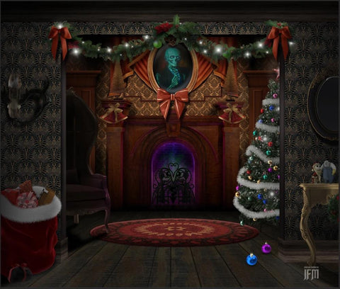 Haunted Mansion - Christmas Haunted Mansion Backdrop