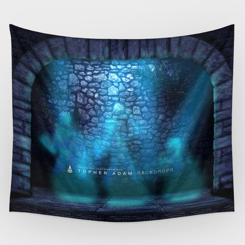 Haunted Mansion - Hitchhiking Ghosts Projection Backdrop
