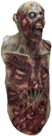 Mega Zombie Mask With Attached Chest and Abdomen