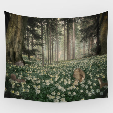 Snow White Forest Backdrop