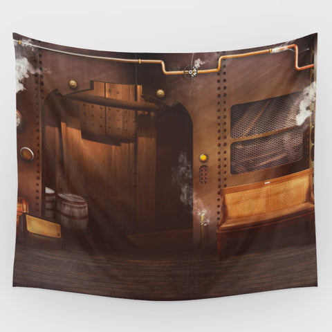 Steampunk Hall 2 Backdrop