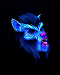 Killer Wolf Series 3000 Mask - UV Reactive