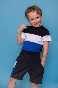 Leo Short Set - Blue/Black