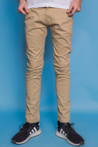 Slim Fit Chinos - Cream
