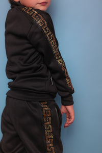 Gold Stud Trackie - Black