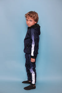 Faded Stripe Trackie - Navy