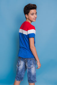 Jack Tshirt - Red/Blue
