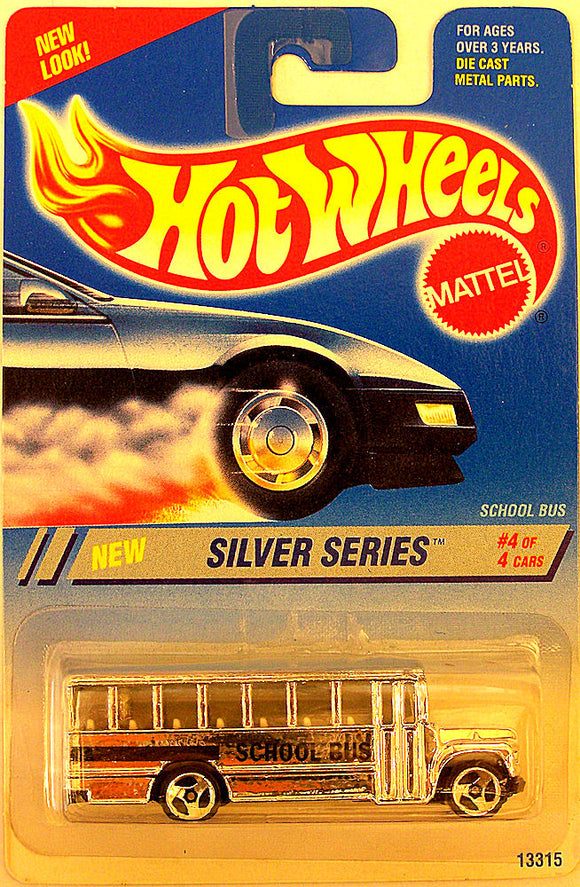 School Bus (1995 Hot Wheels - Silver Series #4/4) Collector #328