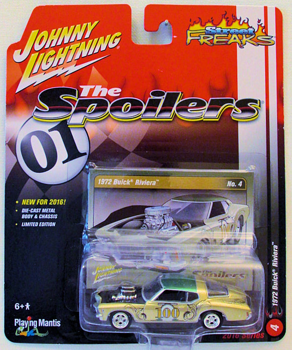 1972 Buick Riviera (2016 Johnny Lightning - Street Freaks #4) The Spoilers (Scratch & Dent)