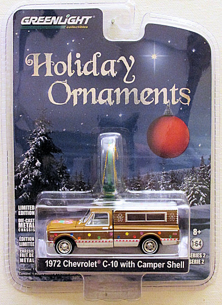 1972 Chevrolet C-10 with Camper Shell (2017 Greenlight - Holiday Ornaments series 2)