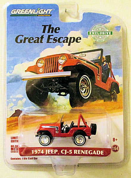 1974 Jeep CJ-5 Renegade (2018 Greenlight - Hobby Exclusive) The Great Escape