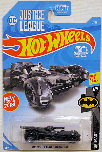 Justice League Batmobile (2018 Hot Wheels Mainline #1/365 - Batman #1/5)