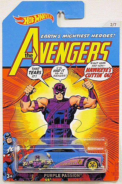 Purple Passion (2018 Hot Wheels Mainline - Avengers Series #2/7) Hawkeye