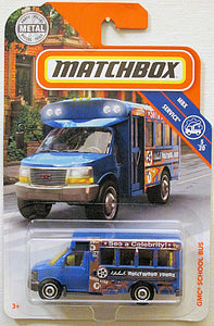 GMC School Bus (2018 Matchbox 1-125 Series #18/125 - MBX Service #5/20)
