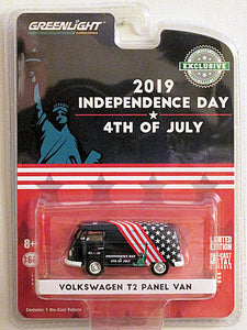 GREENLIGHT  2019 INDEPENDENCE DAY 4TH OF JULY VOLKSWAGON T2 PANEL VAN