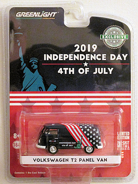 Volkswagen T2 Panel Van (2019 Greenlight - Hobby Exclusive) 2019 Independence Day