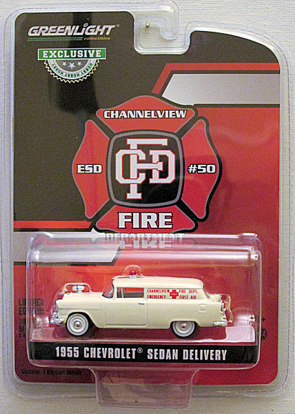 1955 Chevrolet Sedan Delivery (2019 Greenlight - Hobby Exclusive) Channelview Fire Dept.