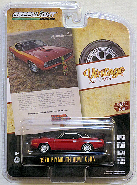 1970 Plymouth HEMI Cuda (2019 Greenlight Vintage Ad Cars Series 1)