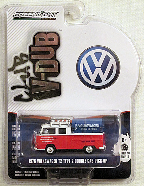 1976 Volkswagen T2 Type 2 Double Cab Pick-up (2020 Greenlight - Club V-Dub Series 10)