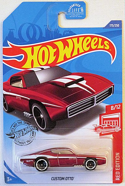 Custom Otto (2020 Hot Wheels Mainline #173/250 - Red Edition) Target Exclusive