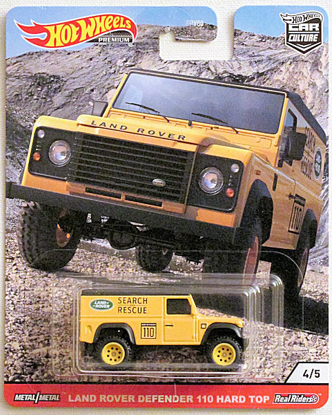 Land Rover Defender 110 Hard Top (2020 Hot Wheels Premium - Car Culture) Wild Terrain #4/5