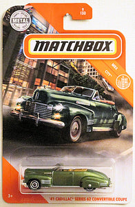 '41 Cadillac Series 62 Convertible Coupe (2020 Matchbox Mainline #9/100 - MBX City)