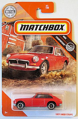 1971 MGB Coupe (2020 Matchbox Mainline #61/100 - MBX Countryside)
