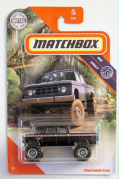 1968 Dodge D200 (2020 Matchbox Mainline #65/100 - MBX Jungle)